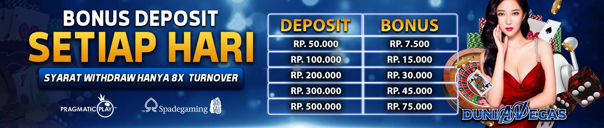 bonus deposit terbesar